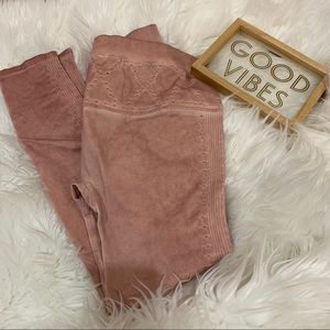 Fabletics Leggings Pink Stitched Pants New XS Pant